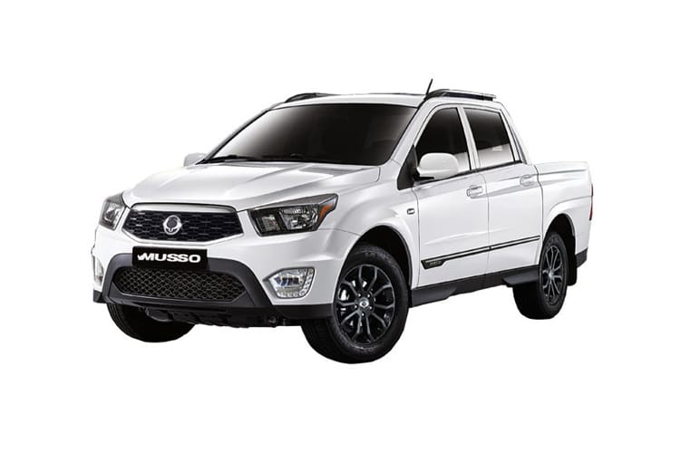 Ssangyong Musso Pick Up Double Cab 4WDS 2.2 d 4WS 181PS Rebel Pickup Double Cab Auto front view